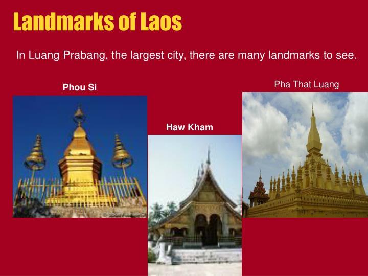Landmarks of Laos