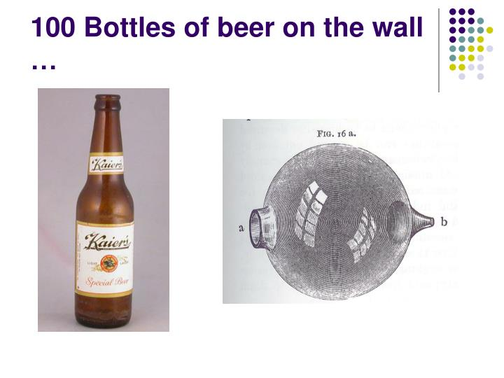 100 Bottles of beer on the wall …
