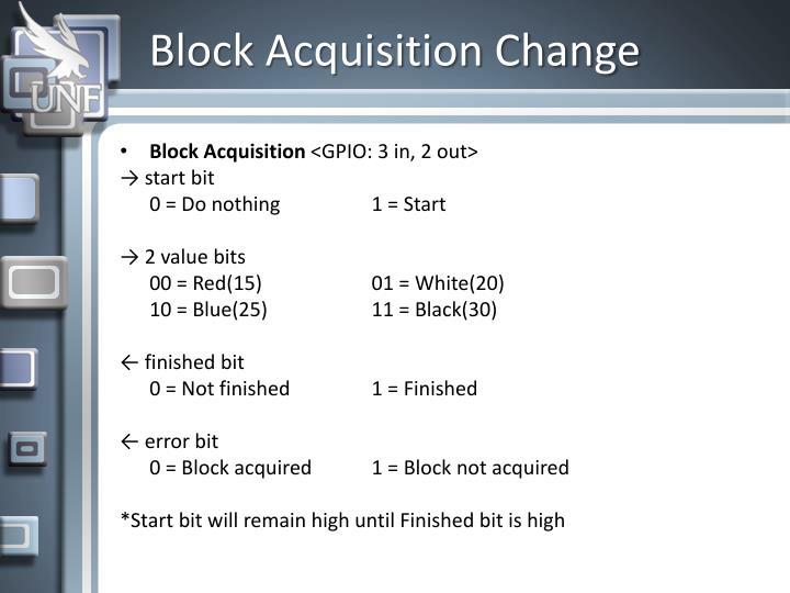Block Acquisition Change