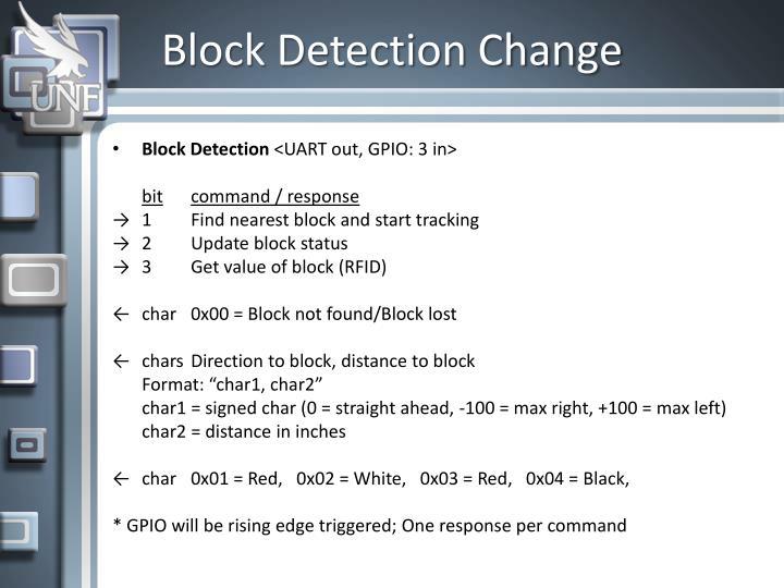 Block Detection Change