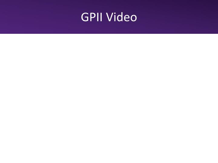 GPII Video