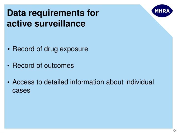 Record of drug exposure