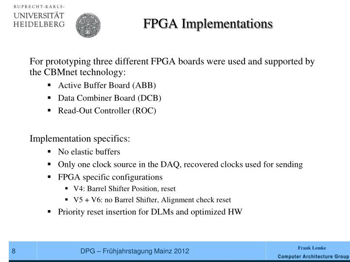 FPGA Implementations