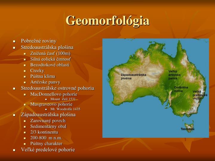 Geomorfológia