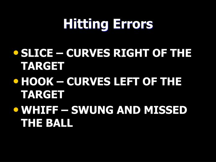 Hitting Errors