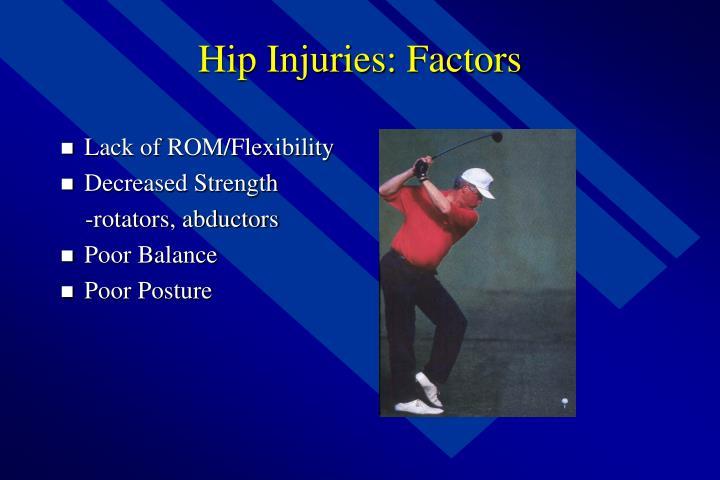 Hip Injuries: Factors