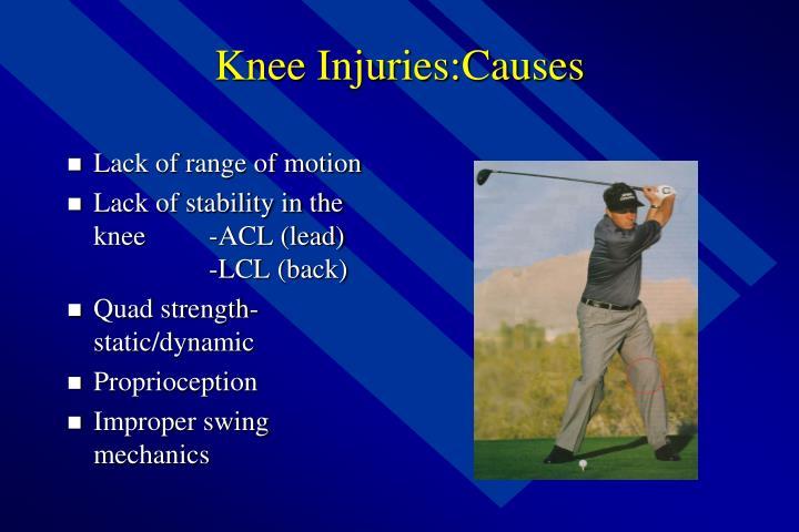 Knee Injuries:Causes