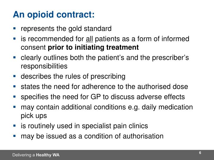 An opioid contract: