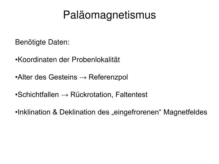 Paläomagnetismus