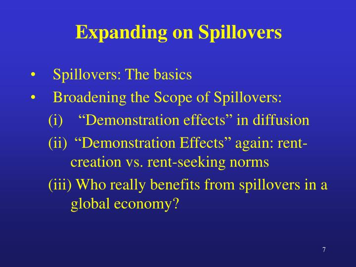 Expanding on Spillovers