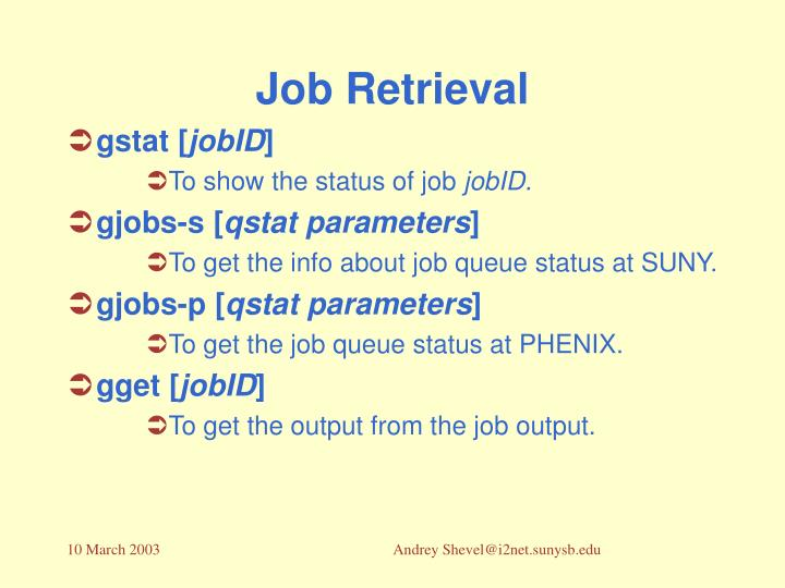 Job Retrieval