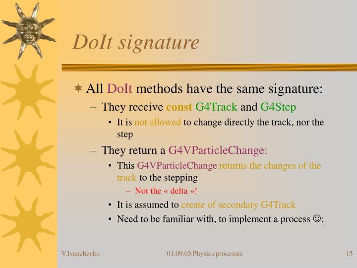 DoIt signature