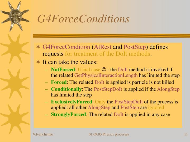 G4ForceConditions