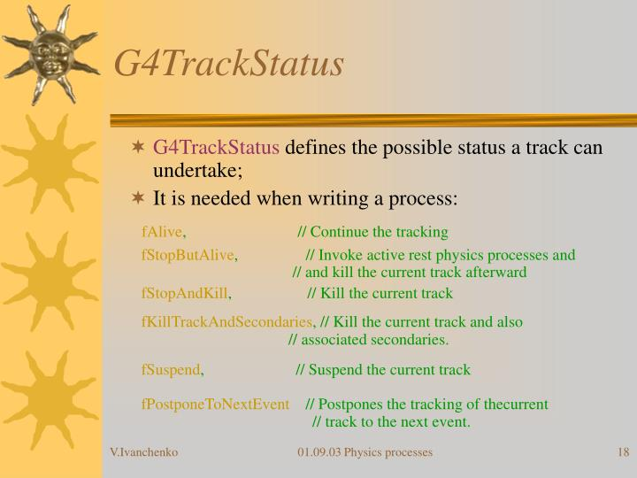 G4TrackStatus