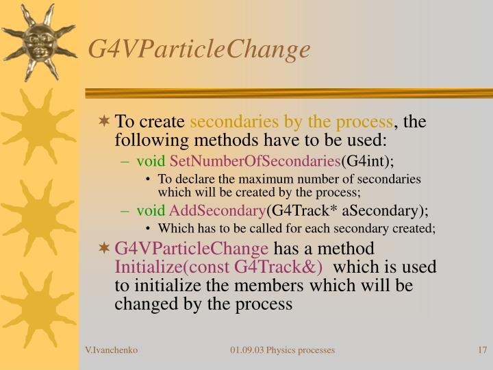 G4VParticleChange