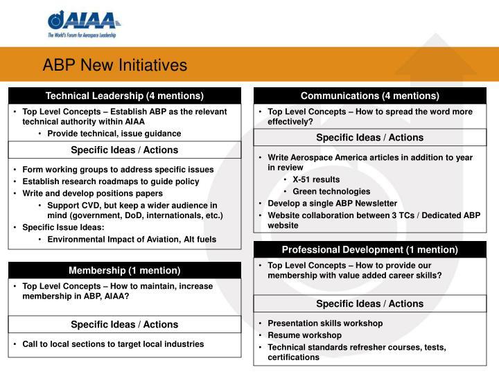 ABP New Initiatives