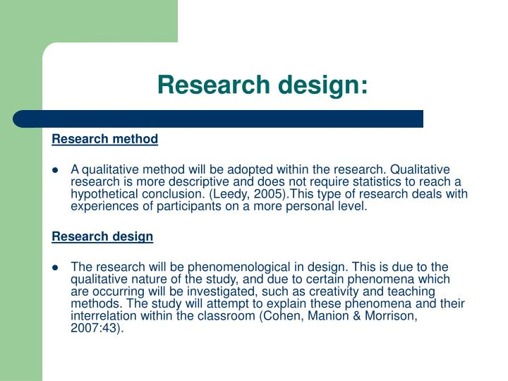 Research design: