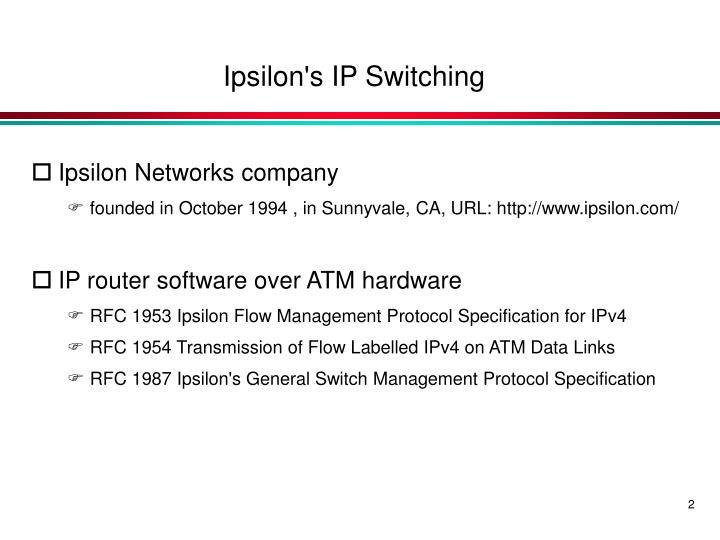 Ipsilon's IP Switching