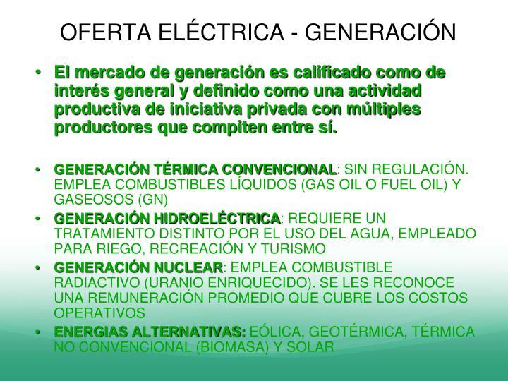OFERTA ELÉCTRICA - GENERACIÓN
