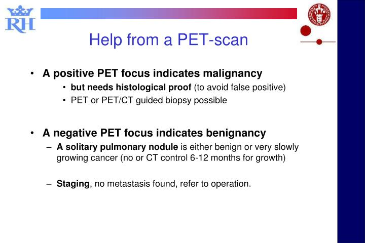 Help from a PET-scan