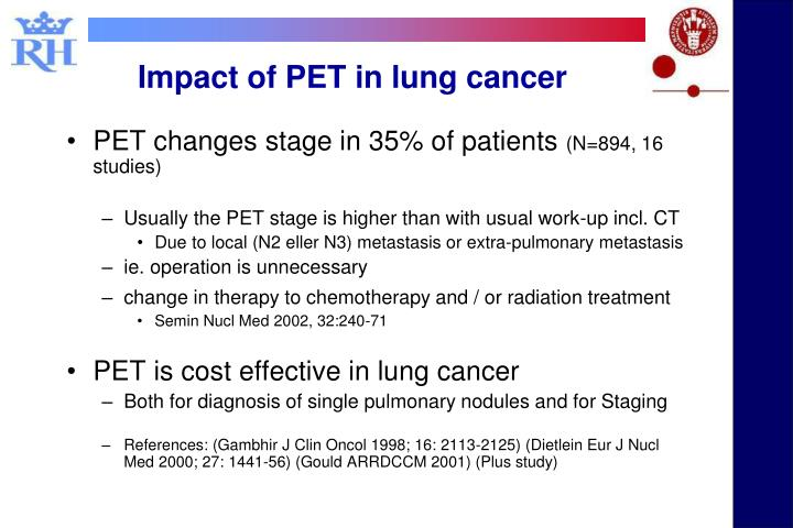 Impact of PET in lung cancer