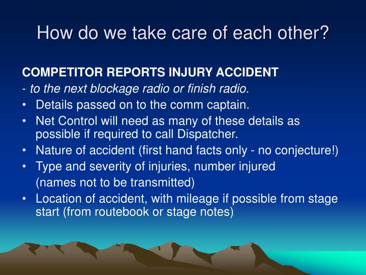 Take Care Of Each Other: Amateur Radio And Performance Rally PowerPoint