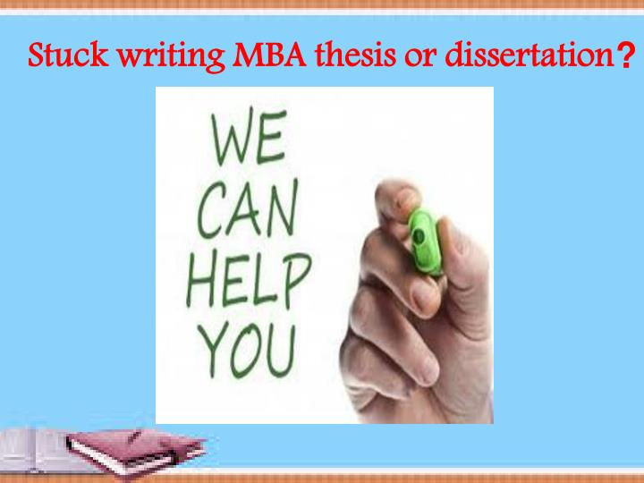 Writing mba thesis