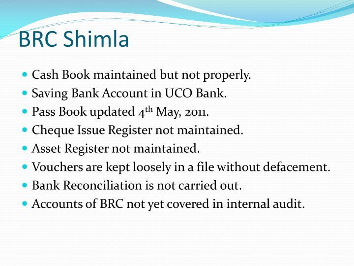 BRC Shimla