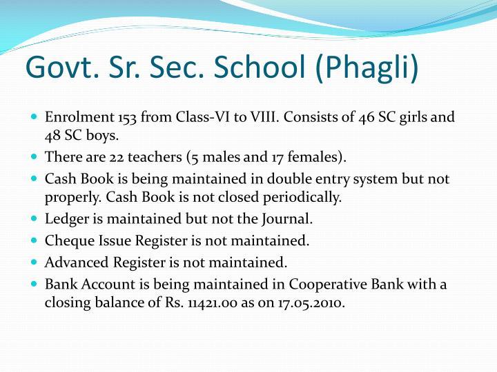 Govt. Sr. Sec. School (Phagli)