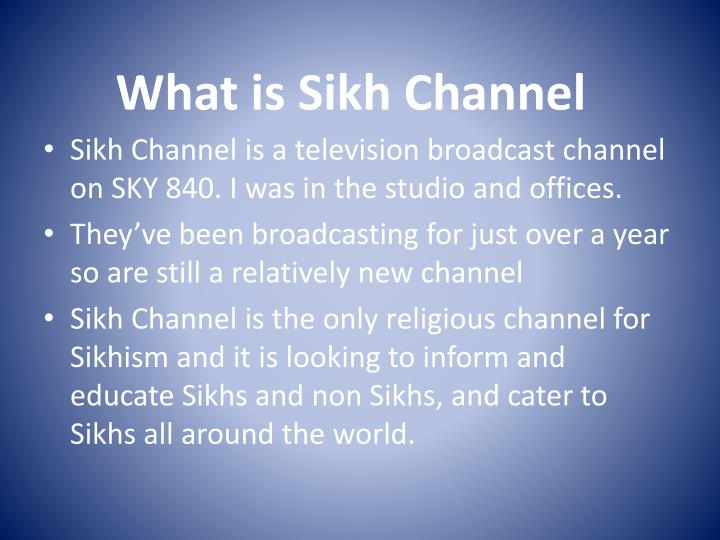 What is Sikh Channel