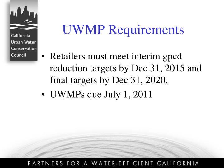 UWMP Requirements