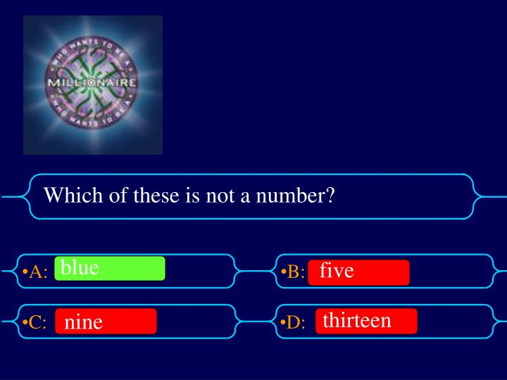Which of these is not a number?