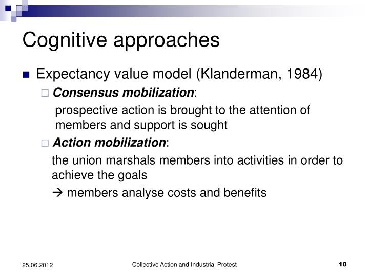 Cognitive approaches