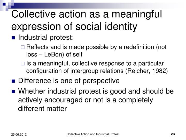 Collective action as a meaningful
