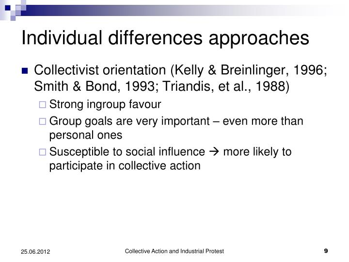 Individual differences approaches