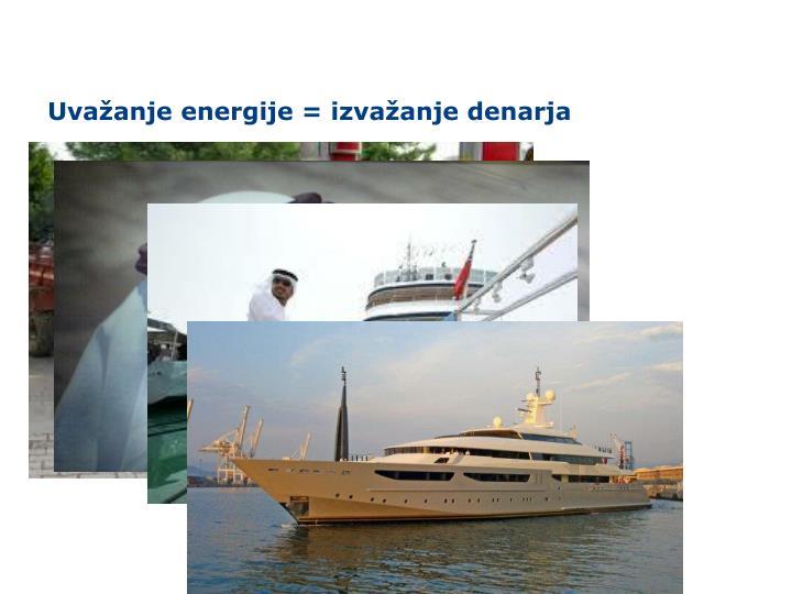 Uvažanje energije = izvažanje denarja