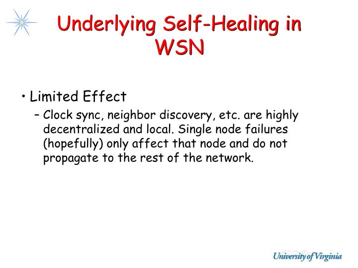 Underlying Self-Healing in WSN