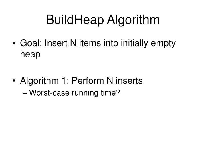 BuildHeap Algorithm