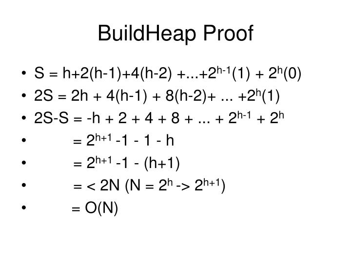 BuildHeap Proof