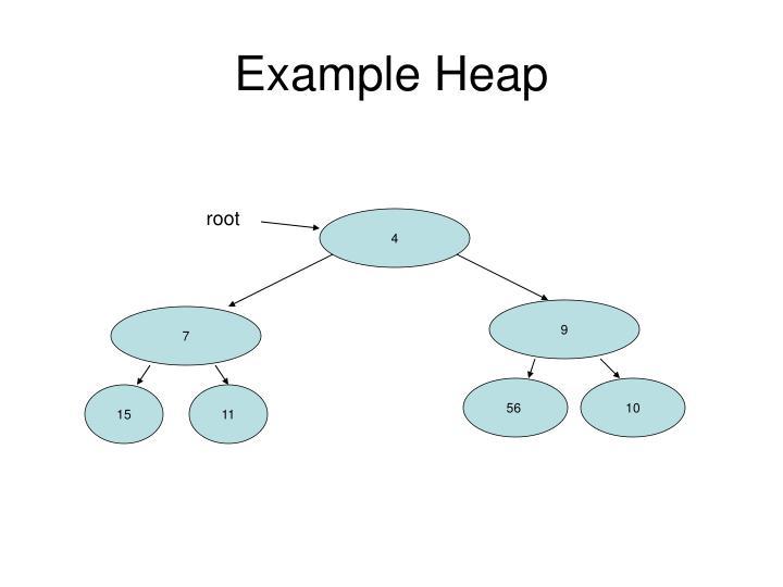 Example Heap