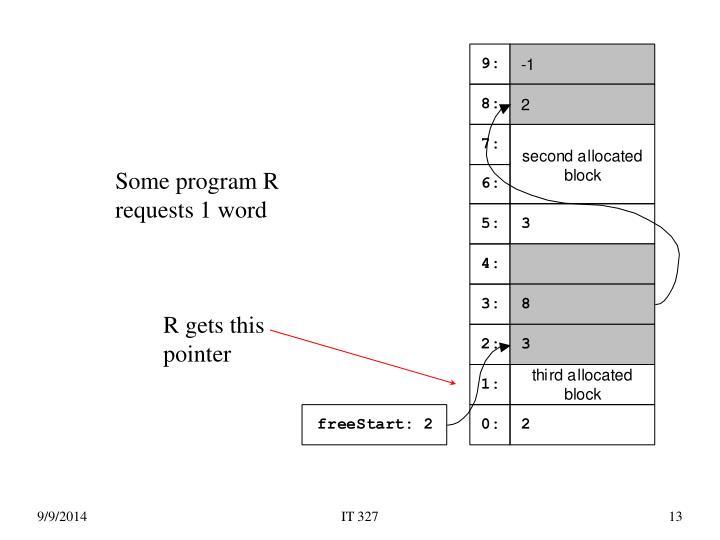 Some program R