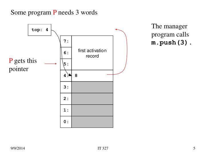 Some program