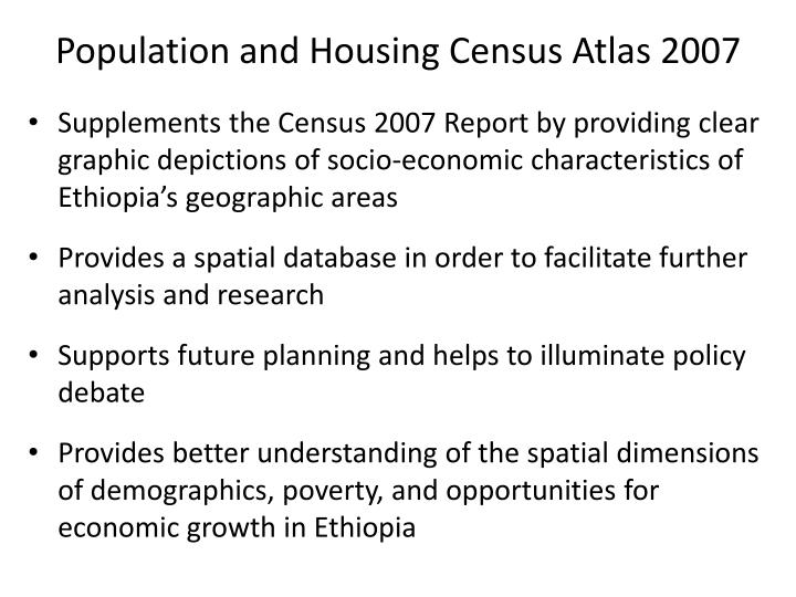 Population and Housing Census Atlas 2007