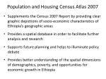 population and housing census atlas 2007