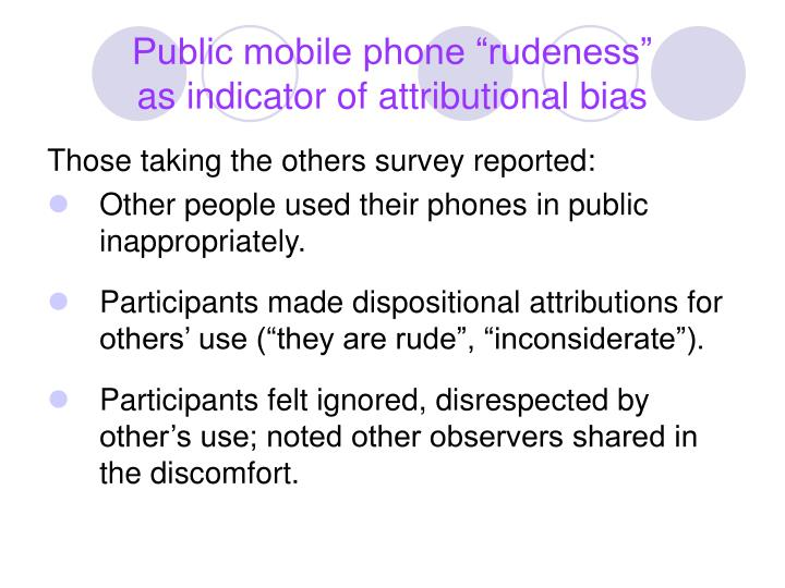"""Public mobile phone """"rudeness"""""""
