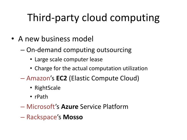 Third-party cloud computing