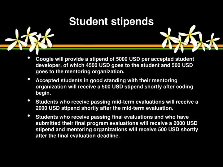 Student stipends