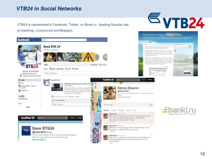 VTB24 in Social Networks