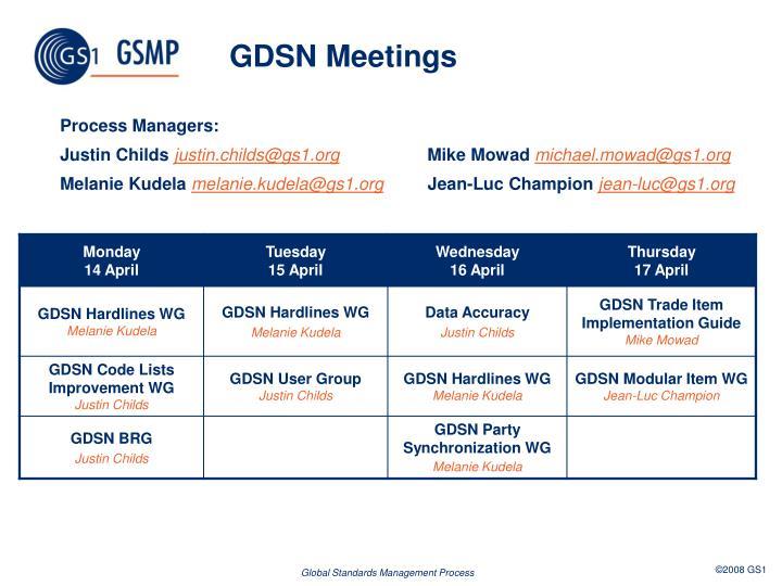 GDSN Meetings