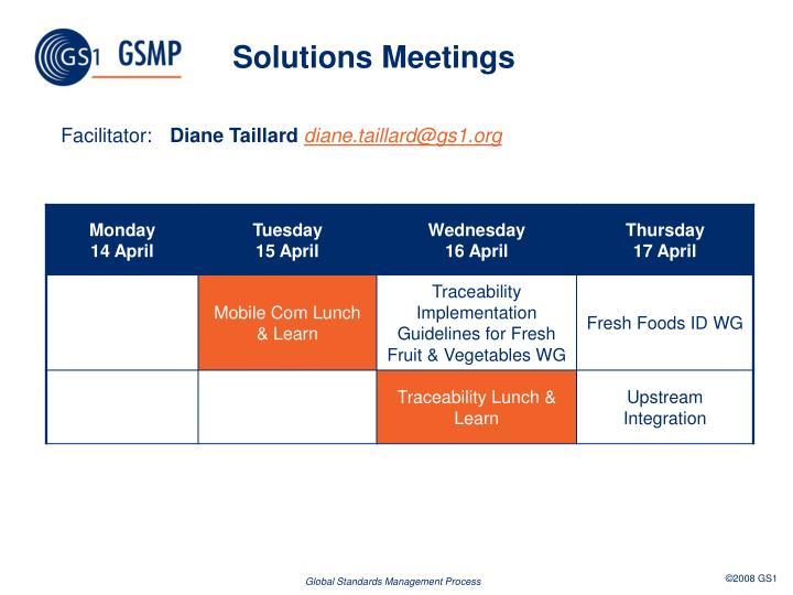 Solutions Meetings